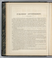 Text page: Publishers' Advertisement.