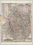 Township & Rail Road Map Of The North Western States