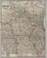 Township And Rail Road Map Of The North West