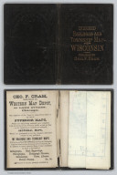 Covers: Rail Road & Township Map Of Wisconsin