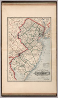 Railroad and County Map of New Jersey.