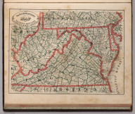 New Rail Road and County Map of Deleware (Delaware), Maryland, Virginia & West Virginia.