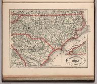 New Rail Road and Count Map of North Carolina.