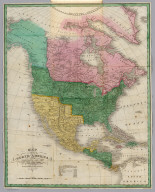 Map of North America including All the Recent Geographical Discoveries, 1827. Drawn by D.H. Vance. Published by A. Finley, Philada. Engraved by J.H. Young.