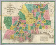 Map of Louisiana, Mississippi, and Alabama. Constructed from the Latest Authorities. D.H. Vance Del., Philadelphia Published by A. Finley 1827. J.H. Young Sc.