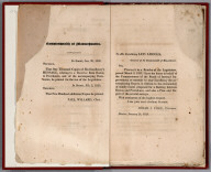 Text Page: Commonwealth of Massachusetts. Dedication note to Gov. Levi Lincoln