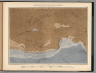 Plate 14. Geological Map of the White Pine Mining District. Geology: A. Hague. Topography: F.A. Clark.