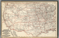 Railway Distance Map of the United States