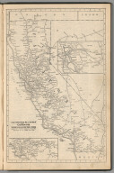 Railway Distance Map of the State of California