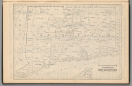 Railway Distance Map of the State of Connecticut