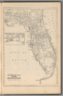 Railway Distance Map of the State of Florida