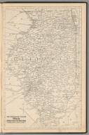 Railway Distance Map of the State of Illinois