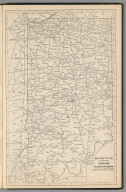(Continues) Railway Distance Map of the State of Indiana
