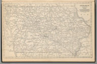 Railway Distance Map of the State of Iowa