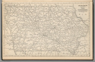(Continues) Railway Distance Map of the State of Iowa