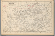 Railway Distance Map of the State of Kentucky