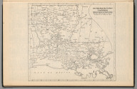 Railway Distance Map of the State of Louisiana