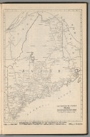 Railway Distance Map of the State of Maine