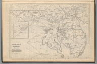 Railway Distance Map of the State of Maryland. Delaware. Dist. of Columbia.