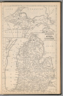 Railway Distance Map of the State of Michigan