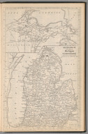 (Continues) Railway Distance Map of the State of Michigan