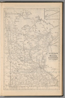 Railway Distance Map of the State of Minnesota
