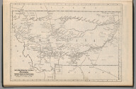 Railway Distance Map of the State of Montana