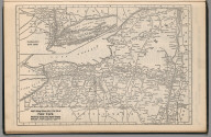 Railway Distance Map of the State of New York