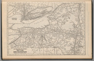 (Continues) Railway Distance Map of the State of New York