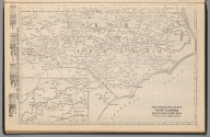 Railway Distance Map of the State of North Carolina