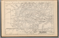 (Continues) Railway Distance Map of the State of Oklahoma