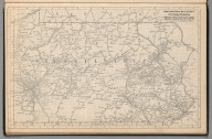 Railway Distance Map of the State of Pennsylvania