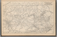 (Continues) Railway Distance Map of the State of Pennsylvania