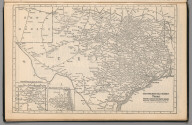 Railway Distance Map of the State of Texas