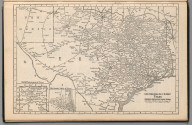 (Continues) Railway Distance Map of the State of Texas