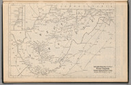 Railway Distance Map of the State of West Virginia