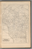 (Continues) Railway Distance Map of the State of Wisconsin