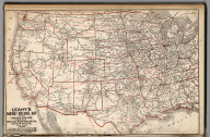 Leahy's Railway Distance Map of the United States
