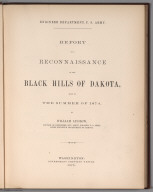Title Page: Report of a reconnaissance of the Black Hills of Dakota, 1874