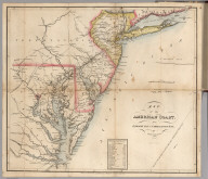 Map of the American Coast, from Lynhaven Bay to Narraganset Bay.