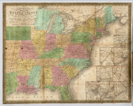 Map Of The United States Showing the Principal Travelling