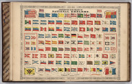 Johnson's New Chart of National Emblems (Flags). Published by Johnson & Ward.