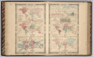 Johnson's Map of The World Showing the Geographical Distribution & Range of The Principal Members of The Animal Kingdom (with) Bird Map. Johnson's Map of The World Illustrating the Productive Industry Of Various Countries, & exhibiting the principal features of Commerce And Navigation. Johnson's Map Showing the Principal Ocean Currents and Boundaries of the River Systems. Johnson's Map Illustrating the Principal Features of Meteorology (with) Rain Map. Johnson's Map Illustrating the Principal Features of the Land and the Co-tidal Lines. Johnson's Map Showing the Distribution and Limits of Cultivation of the Principal Plants Useful to Mankind.