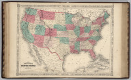 Johnson's United States Published by Johnson and Ward.