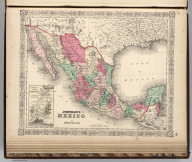 Johnson's Mexico By Johnson and Ward. (inset) Territory And Isthmus Of Tehuantepec.
