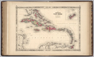 Johnson's West Indies By Johnson And Ward. (inset) The Bermuda Islands.