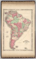 Johnson's South America Published by Johnson And Ward.