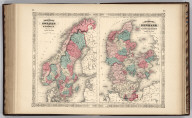 Johnson's Sweden And Norway Published by Johnson And Ward. Johnson's Denmark With Sleswick (Schleswig) & Holstein Published by Johnson And Ward.