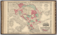 Johnson's Austria, Turkey In Europe And Greece. By Johnson And Ward. (inset) Candia (Crete).