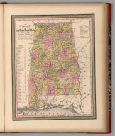 New Map of Alabama with its Roads & Distances